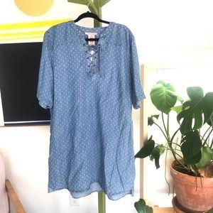 NWT philosophy tencel lace up tunic size XXL